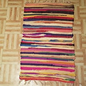 New Chindi Rainbow Rug 20 x 30 100% cotton